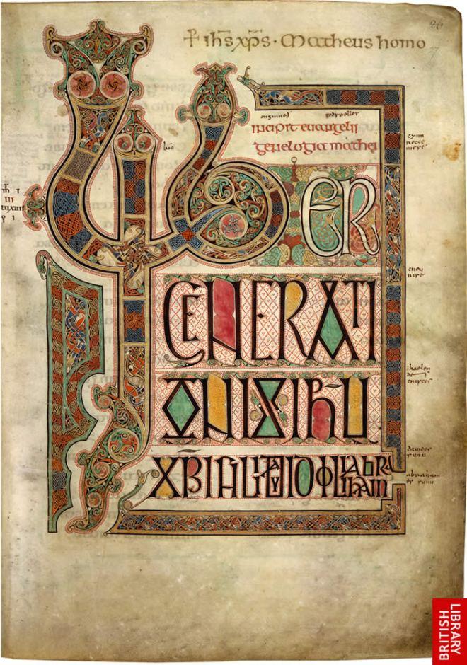 Lindisfarne – Matthew incipit