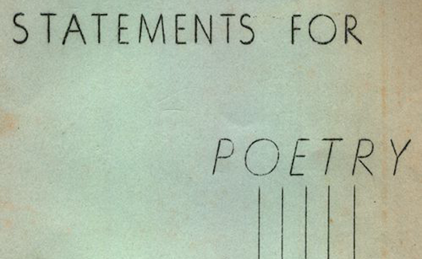 """Statement of creative writing and poetics commitments"""